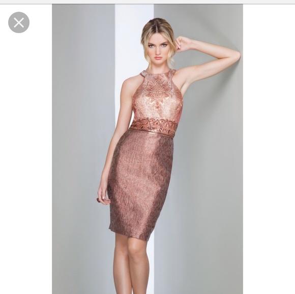 Mignon Dresses Copper Cocktail Dress Nwot Poshmark